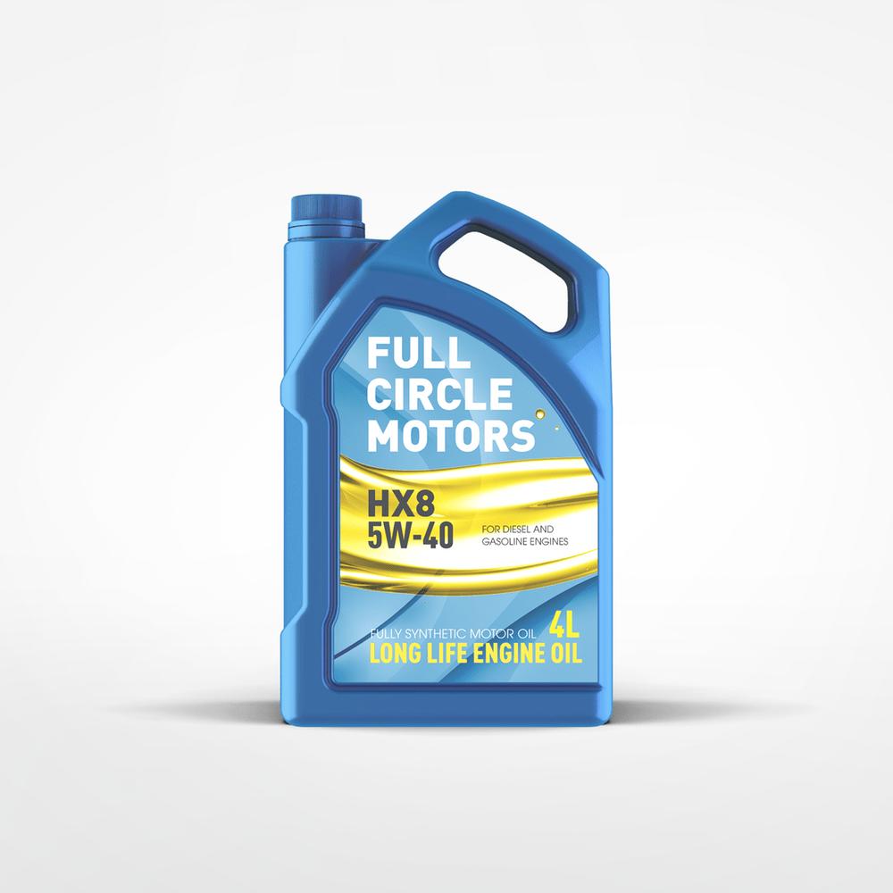 Full Circle Motors - Engine Oil Mockup