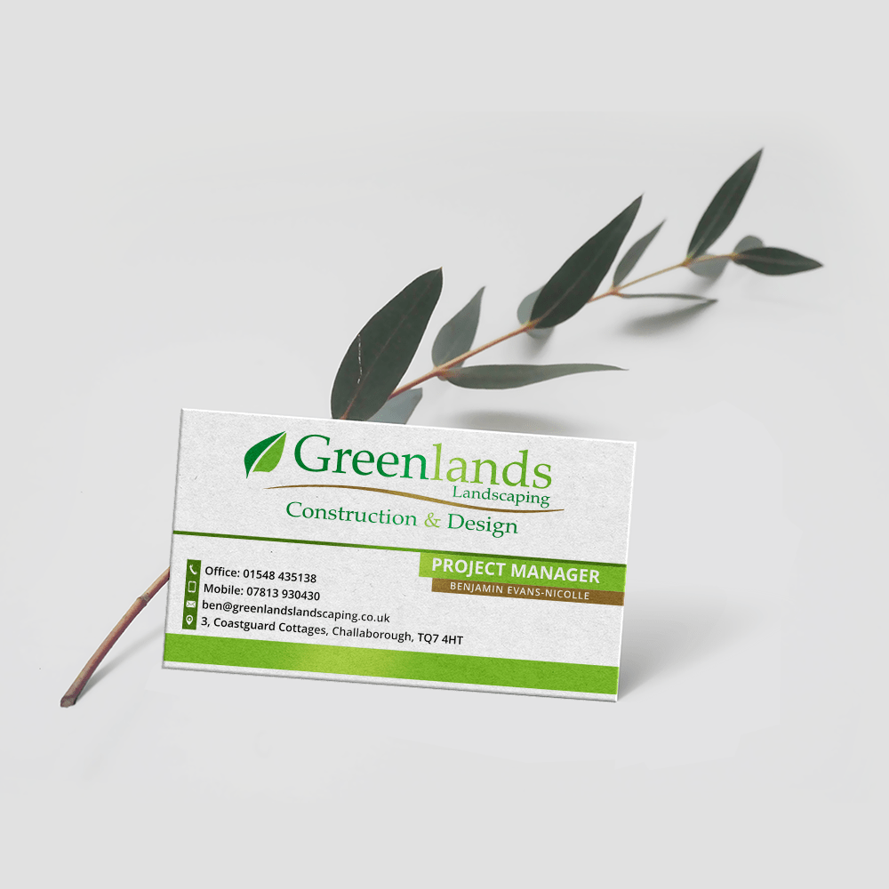 Greenlands Landscaping - Business Card Mockup