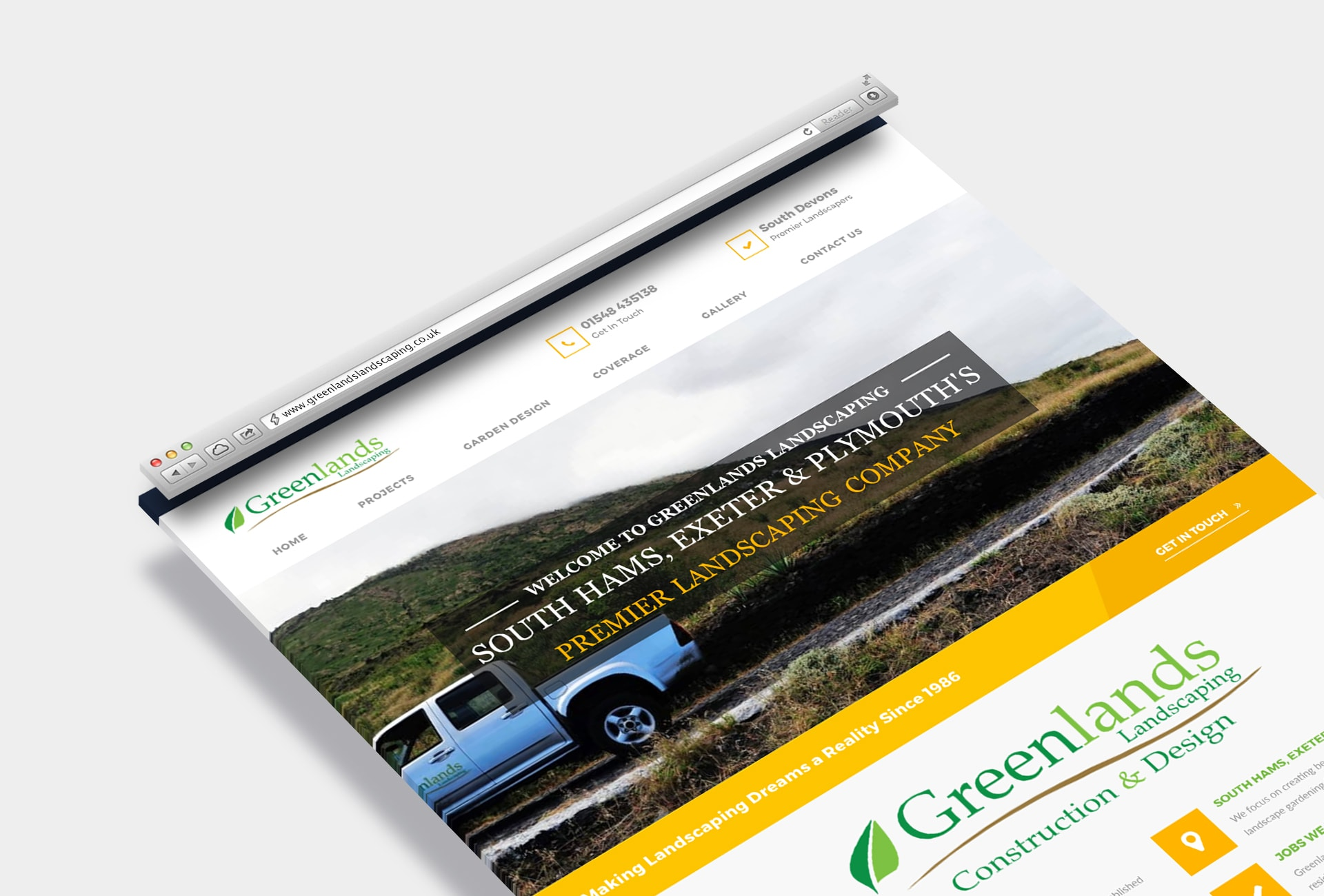 Greenlands Landscaping - Safari Mockup